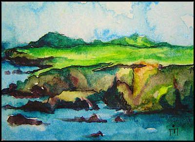 Art: Cliffs of IRELAND SOLD by Artist Dottie Cooper Katz