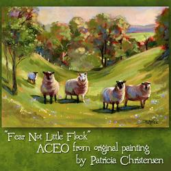 Art: ACEO - Fear Not Little Flock by Artist Patricia  Lee Christensen