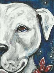 Art: Bandana Pit Bull 1 by Artist Melinda Dalke