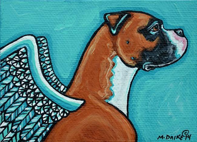 Art: Angel Boxer 1 by Artist Melinda Dalke