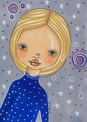 Art: Starry Night by Artist Sherry Key