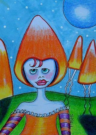 Art: Candy Corn Land by Artist Sherry Key