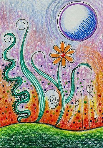 Art: Alien Landscape by Artist Sherry Key