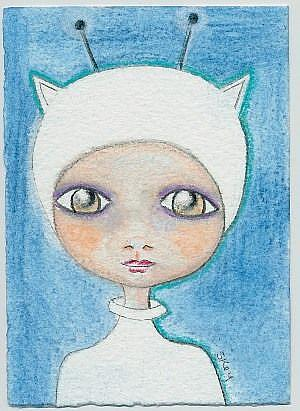 Art: Little Alien-Sold by Artist Sherry Key