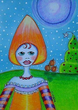 Art: Candy Corn Winter by Artist Sherry Key