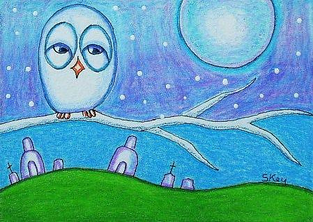 Art: Snow Owl-Sold by Artist Sherry Key