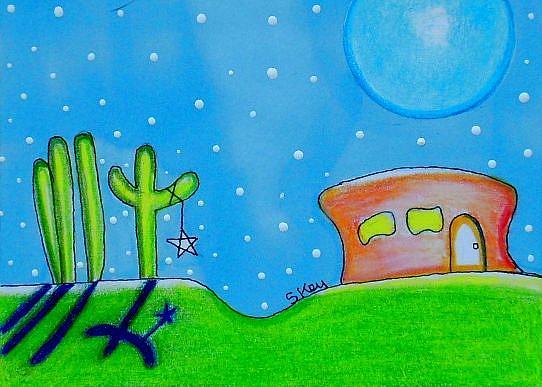 Art: Southwest Twilight-Sold by Artist Sherry Key