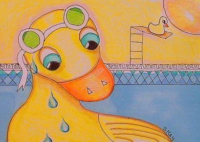 Art: Like Water Off A Duck's Back by Artist Sherry Key