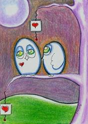 Art: Dream With Eyes Wide Open-Sold by Artist Sherry Key