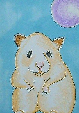 Art: Hamster Portrait-Sold by Artist Sherry Key