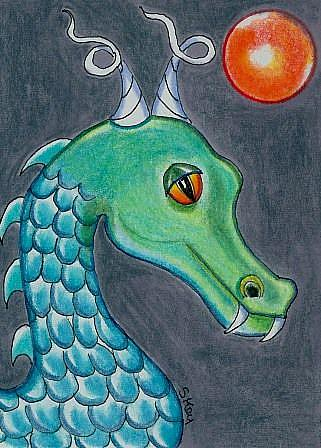 Art: Moosh, Senior Water Dragon-Sold by Artist Sherry Key