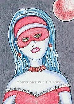 Art: Red Moon Masquerade-Sold by Artist Sherry Key