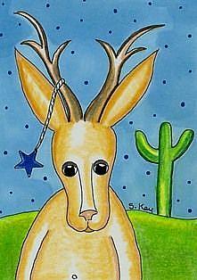 Art: Legendary Texas Jackalope-Sold by Artist Sherry Key