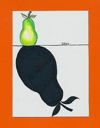 Art: Cast A Shadow, Pear-Sold by Artist Sherry Key