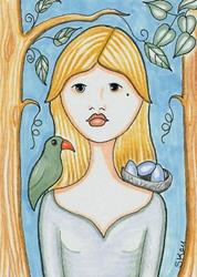 Art: Bird Sanctuary-Sold by Artist Sherry Key