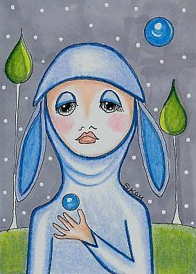 Art: Blue Moon Seer by Artist Sherry Key