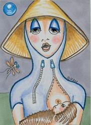 Art: Offworld Nurse Maid by Artist Sherry Key