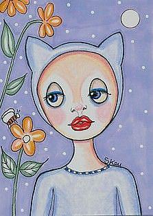 Art: Kitty Jammies by Artist Sherry Key