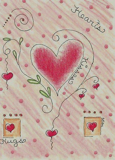 Art: Hearts, Hugs and Kisses by Artist Sherry Key
