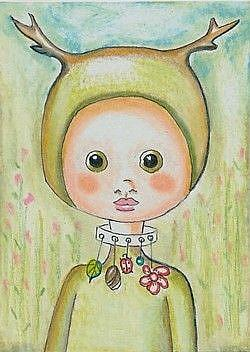 Art: Little Wood Sprite-Sold by Artist Sherry Key