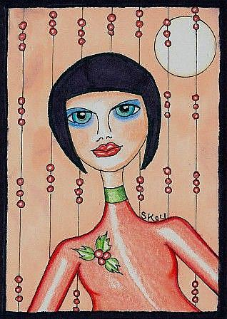 Art: Christmas Fortune Teller by Artist Sherry Key