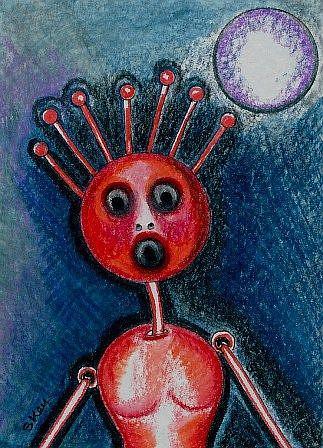 Art: Am I Alive? Sold by Artist Sherry Key
