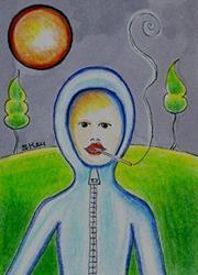 Art: Art of Smoking by Artist Sherry Key