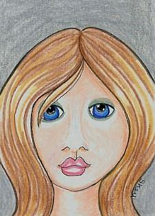 Art: Just Another Pretty Face-29 Faces by Artist Sherry Key