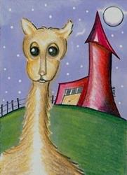 Art: If Dr. Seuss Had A Llama by Artist Sherry Key