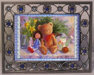 Detail Image for art ACEO Dolly & Teddy Bear & Daffodils