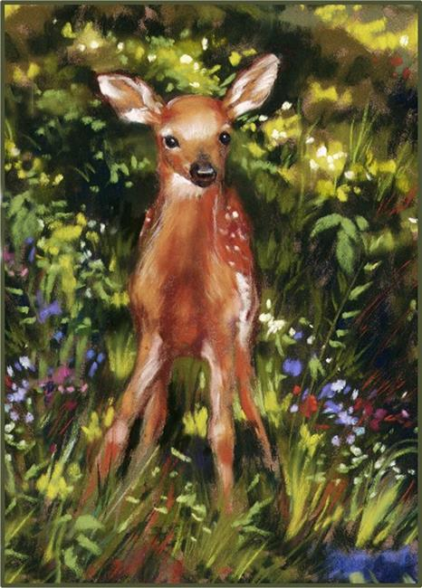 Art: ACEO Giclee Print ~ Wobbly Legs by Artist Patricia  Lee Christensen