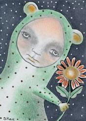 Art: The Last Flower-Sold by Artist Sherry Key
