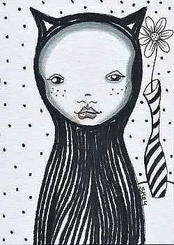 Art: Goth Girl by Artist Sherry Key