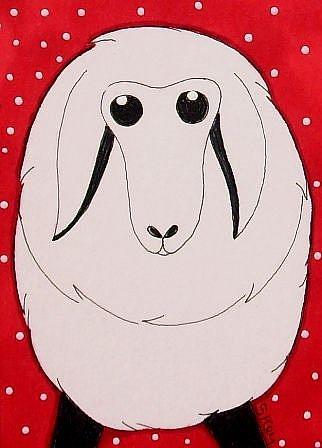 Art: Sheep by Artist Sherry Key