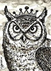 Art: ACEO King Who by Artist Melinda Dalke