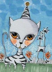 Art: Cat Suit-Sold by Artist Sherry Key