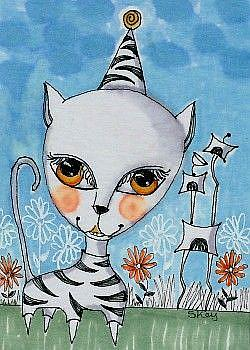 Art: Cat Suit-Sold by Artist Sherry Key