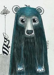Art: Blue Black Bear-NA by Artist Sherry Key