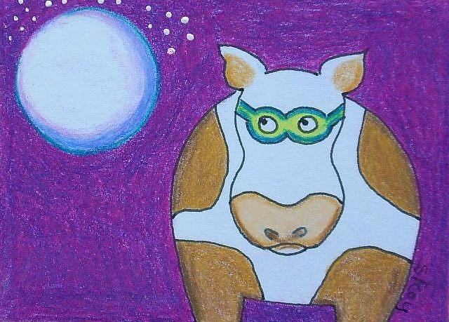 Art: COW GOGGLES-Sold by Artist Sherry Key