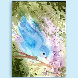Art: Gentle Bluebird ~ Sold by Artist Patricia  Lee Christensen