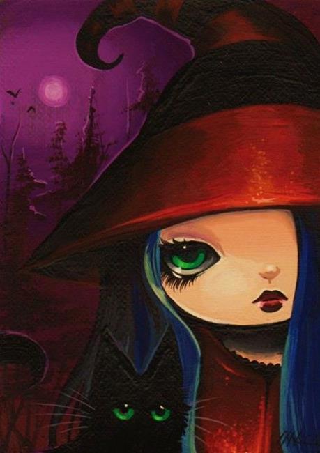 Art: Purple Moon by Artist Nico Niemi
