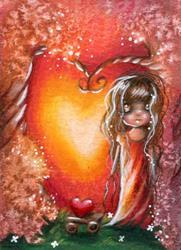 Art: Love Glow by Artist Sour Taffy