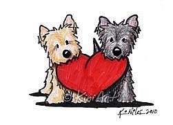 Joyeux Anniversaire aux 4 pattes - Octobre 2014 Cairn-Terrier-Heartfelt-Duo