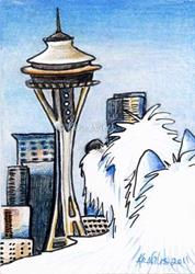 Art: Sweetness In Seattle by Artist KiniArt