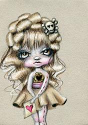 Art: Her Love Letter by Artist Sour Taffy