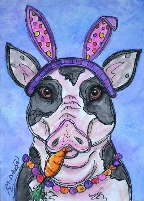 Art: easter pig.jpg by Artist Melinda Dalke