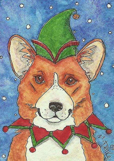Art: Jangle Corgi Dog by Artist Melinda Dalke