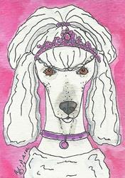 Art: Princess Poodle by Artist Melinda Dalke