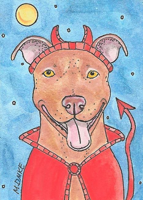 Art: Devil Dog Diablo - Angel in Disquise by Artist Melinda Dalke