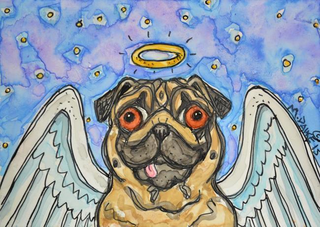 Art: Heavenly Pug 1 by Artist Melinda Dalke